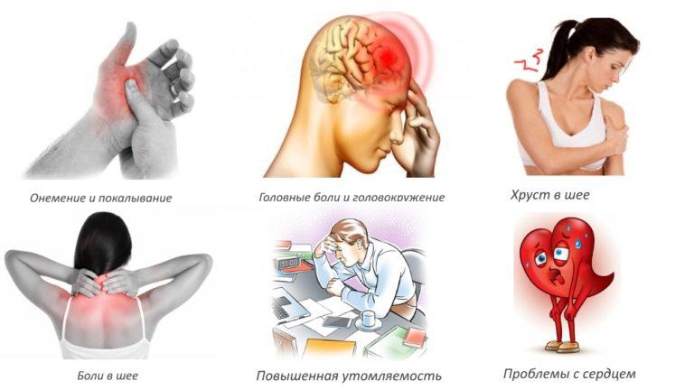 Основные проявления заболевания