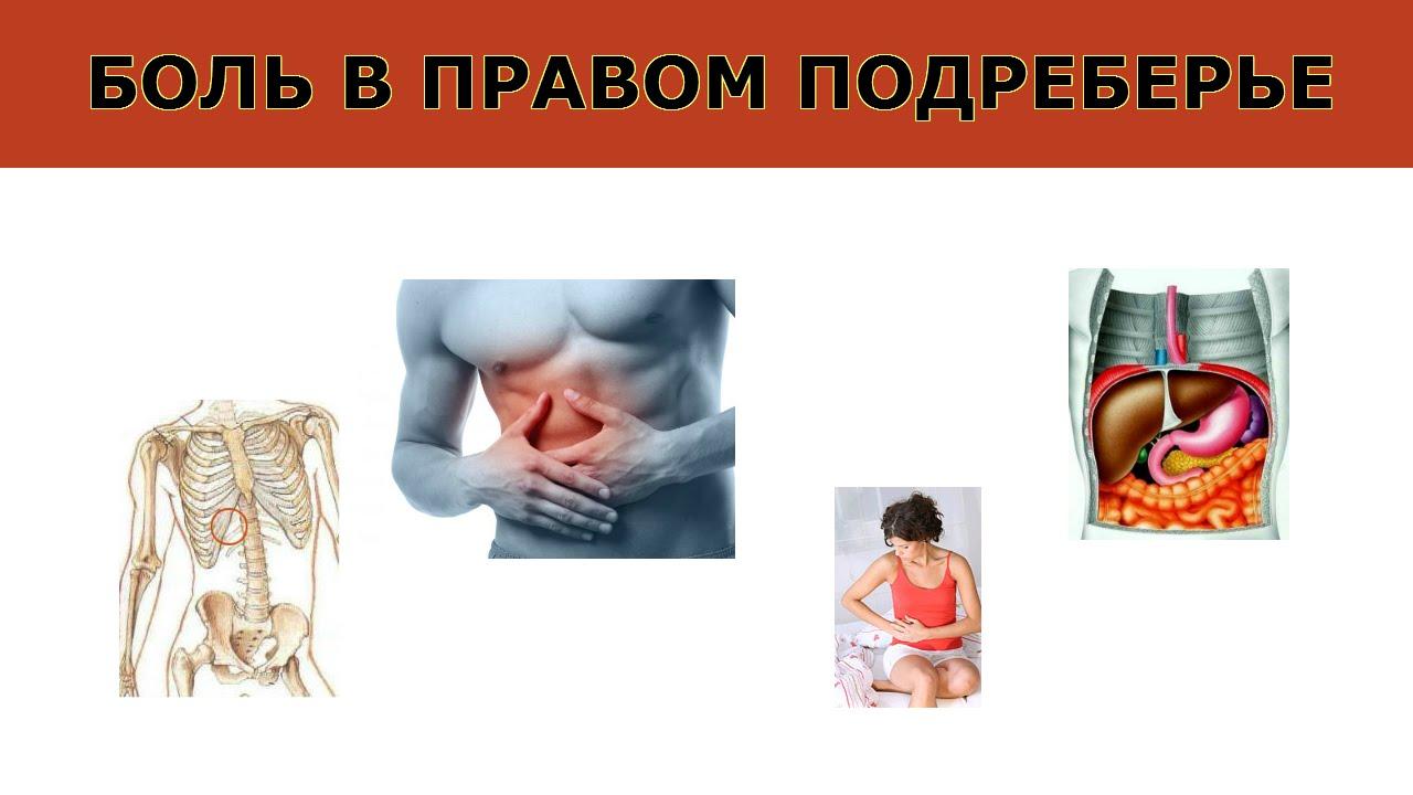 Боль в правом подреберье может сопровождаться другими симптомами