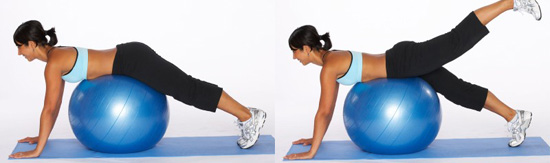 Упражнение 12 - махи ногами