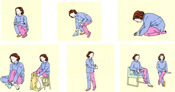Движения, которых стоит избегать после эндопротезирования тазобедренного сустава