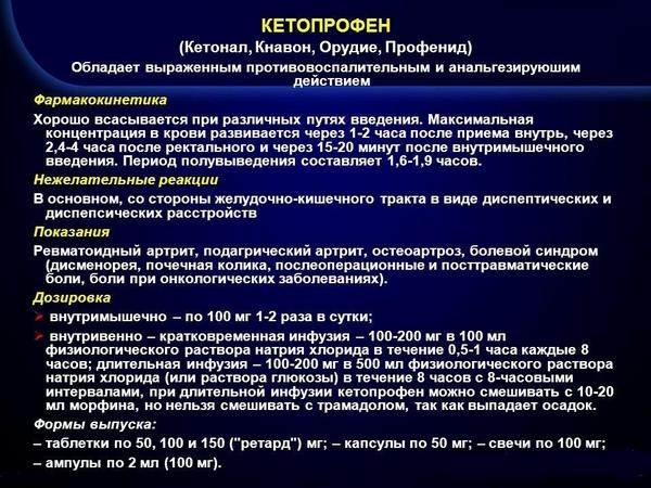 О препарате «Кетопрофен»