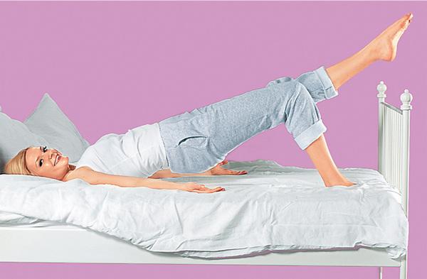 Некоторыми упражнениями можно заниматься, даже не вставая с постели!