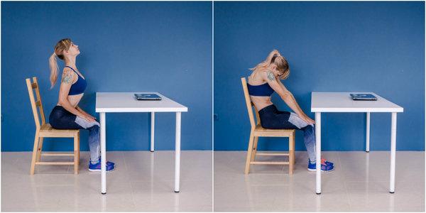 Стоит регулярно разминаться, особенно, если человек занимается сидячей работой