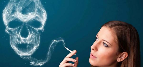 Из-за курения также возникает такая проблема