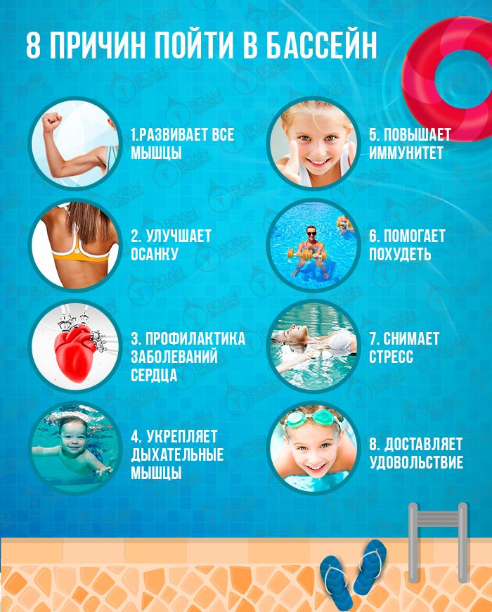 8 причин пойти в бассейн