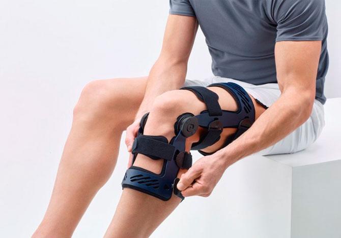 Ортез на коленном суставе