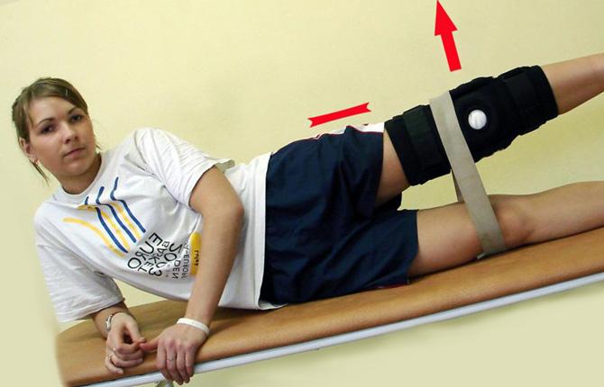 Упражнение для восстановления после травмы колена