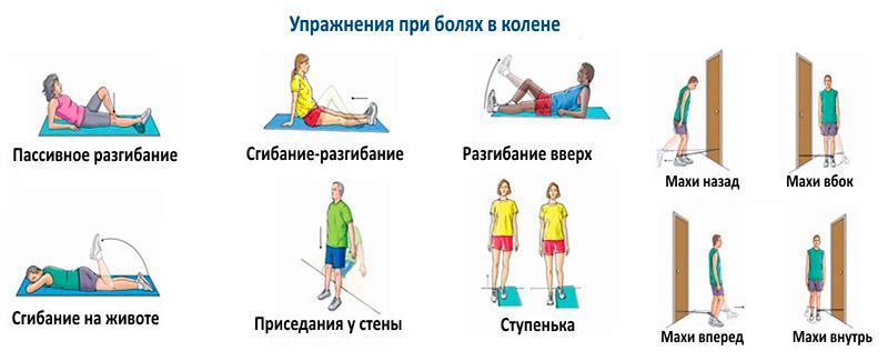 Упражнения при болях в колене
