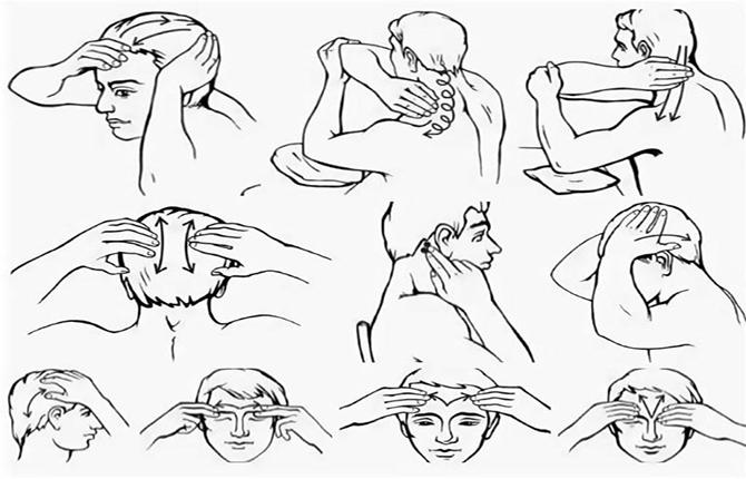 Самомассаж при болях шеи, головы