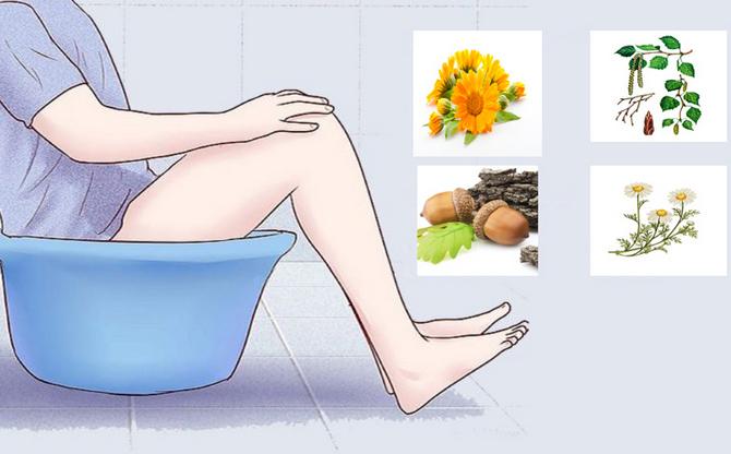 Сидячие ванночки с отварами
